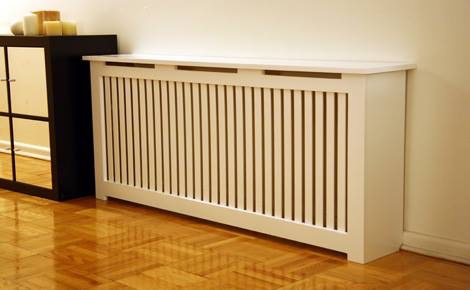 Wood radiator cover.