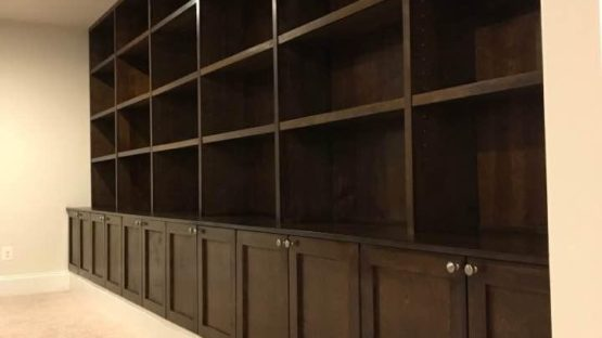 Basement storage and shelving unit