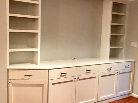 Built-in cabinets. Modern.  Simple.  Perfect.