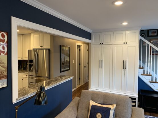 Fireplace and entry cabinets, Alexandria Virginia